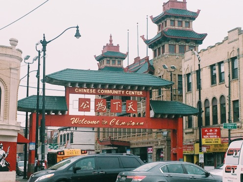 Entrance to the original Chinatown. Chinatown Public Library and CTA Cermak-Princeton station is steps away.